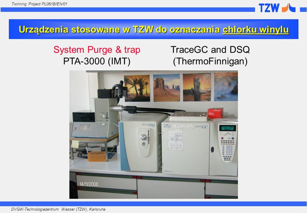 Urządzenia stosowane w TZW do oznaczania chlorku winylu