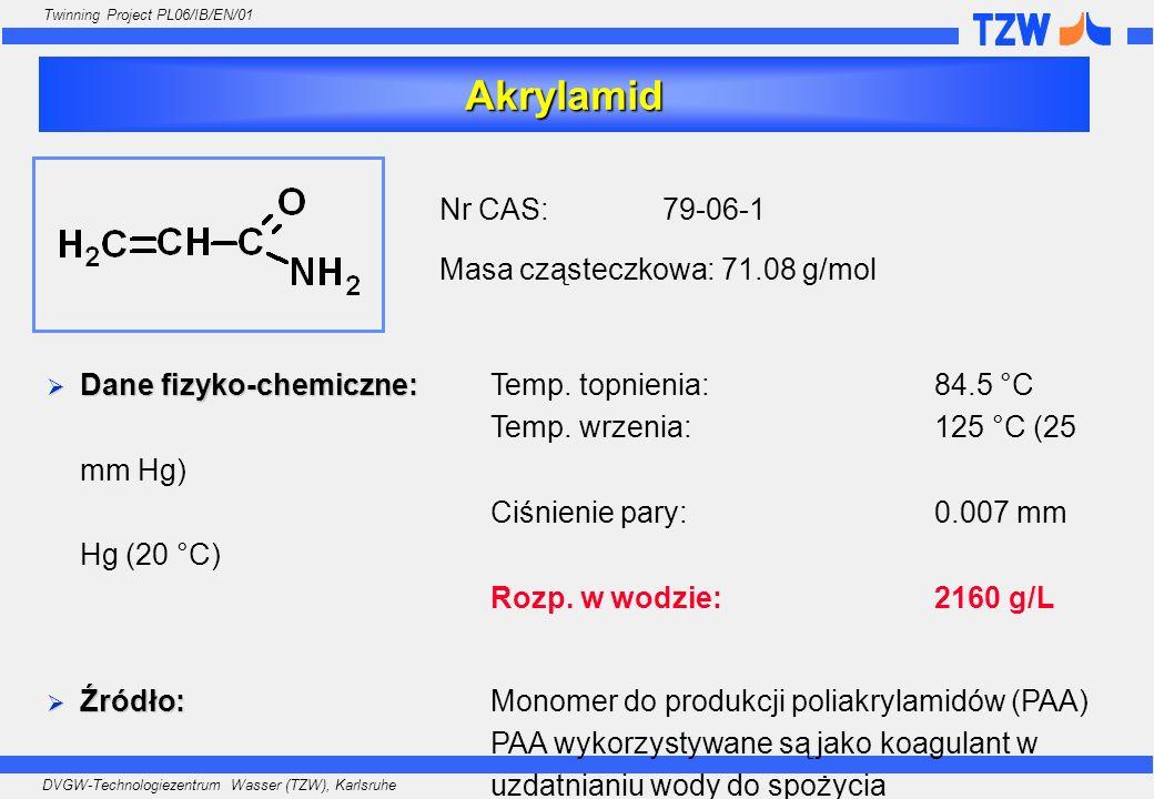 Akrylamid Nr CAS: 79-06-1 Masa cząsteczkowa: 71.08 g/mol