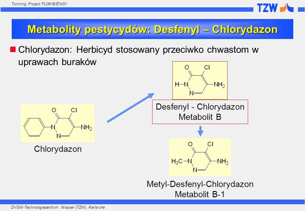 Metabolity pestycydów: Desfenyl – Chlorydazon