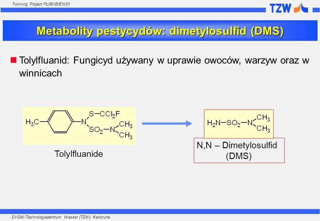 Metabolity pestycydów: dimetylosulfid (DMS)