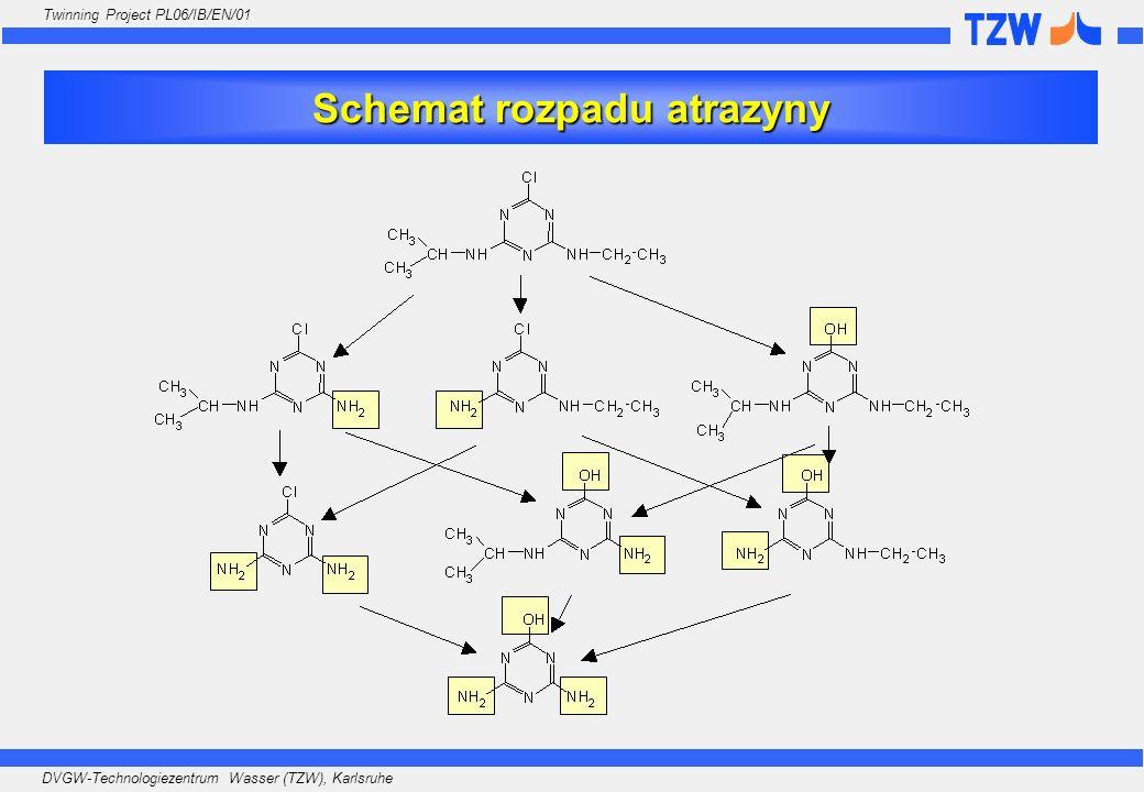 Schemat rozpadu atrazyny