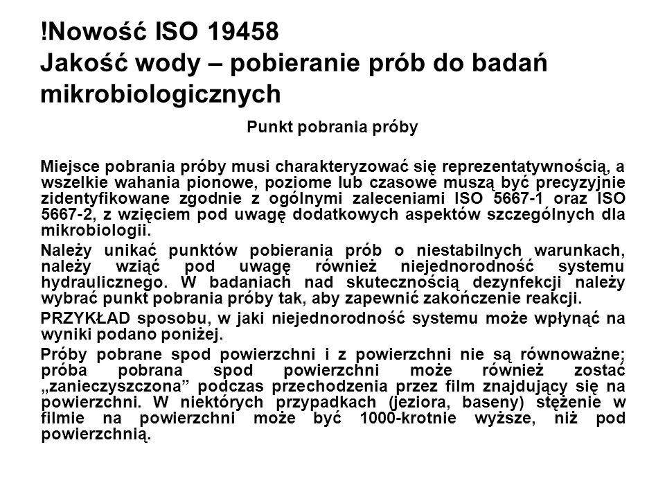 !Nowość ISO 19458 Jakość wody – pobieranie prób do badań mikrobiologicznych