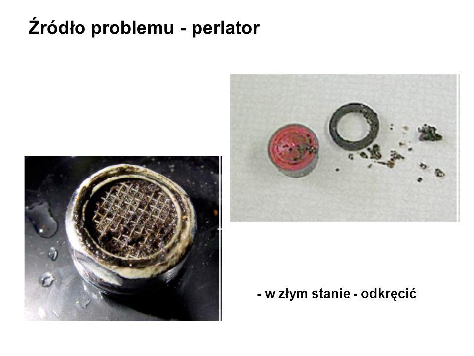 Źródło problemu - perlator