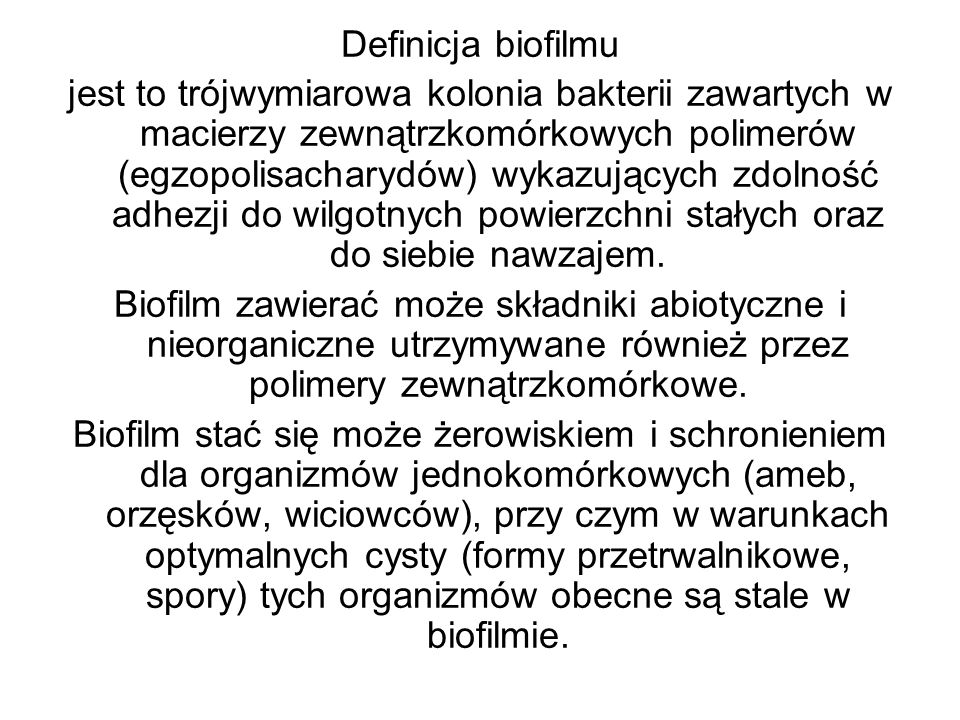 Definicja biofilmu