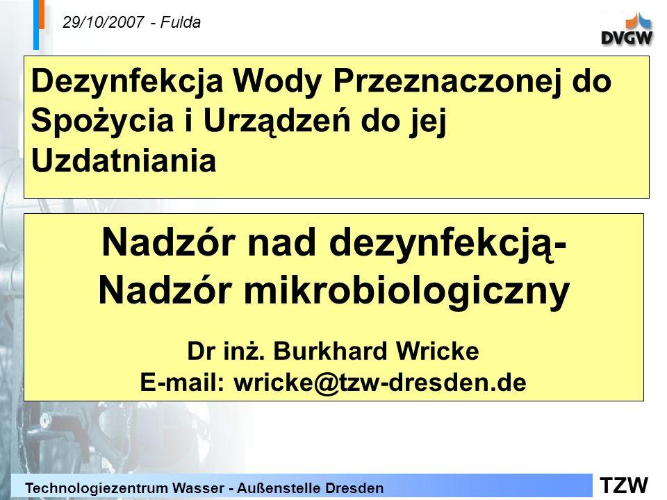Nadzór nad dezynfekcją- Nadzór mikrobiologiczny