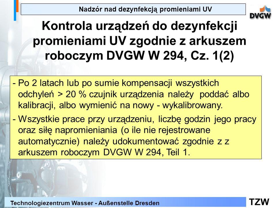 Nadzór nad dezynfekcją promieniami UV