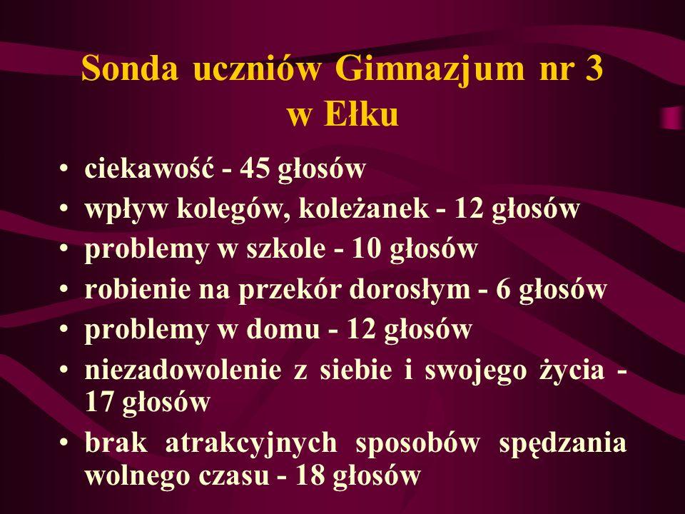 Sonda uczniów Gimnazjum nr 3 w Ełku