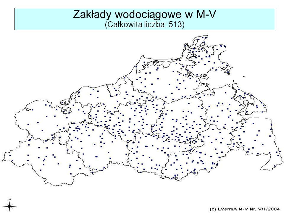 Zakłady wodociągowe w M-V (Całkowita liczba: 513)