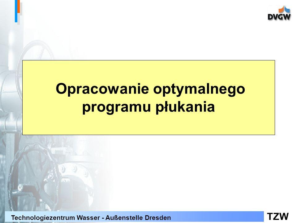 Opracowanie optymalnego programu płukania