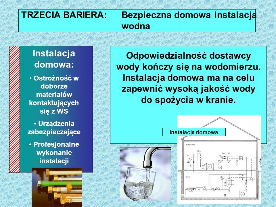 TRZECIA BARIERA: Bezpieczna domowa instalacja wodna