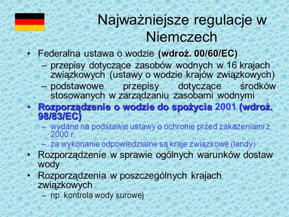 Najważniejsze regulacje w Niemczech