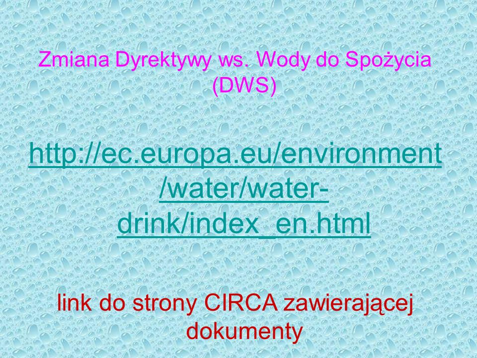 Zmiana Dyrektywy ws. Wody do Spożycia (DWS)