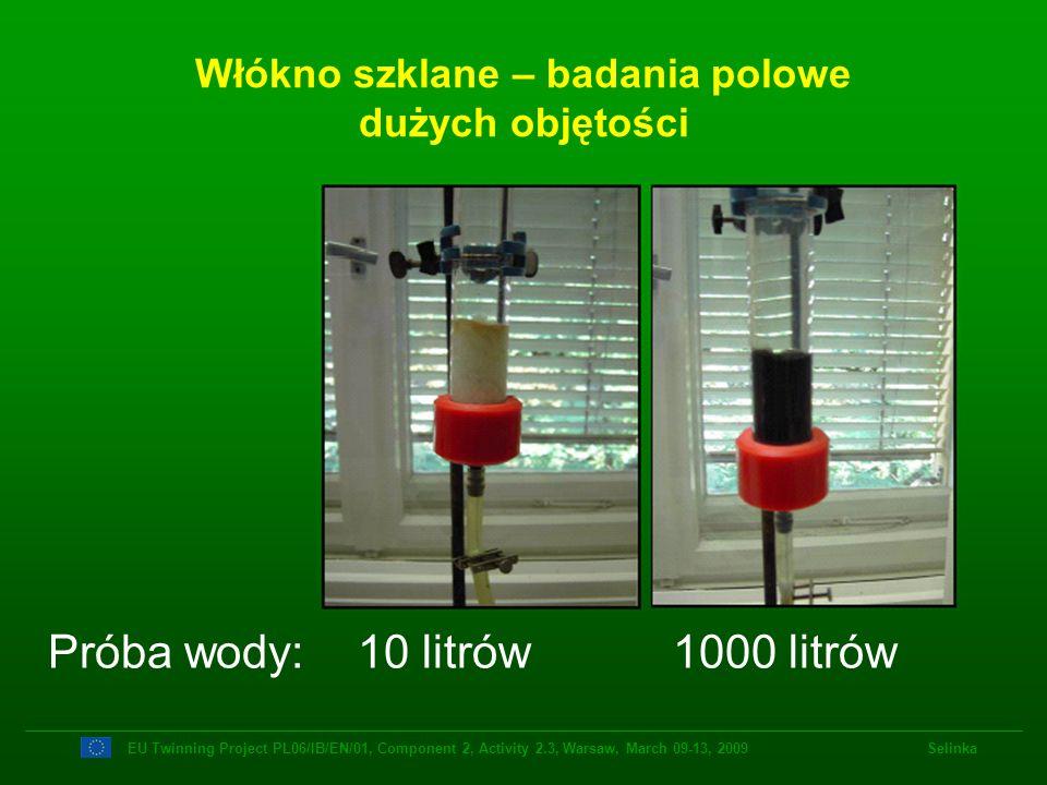 Włókno szklane – badania polowe dużych objętości