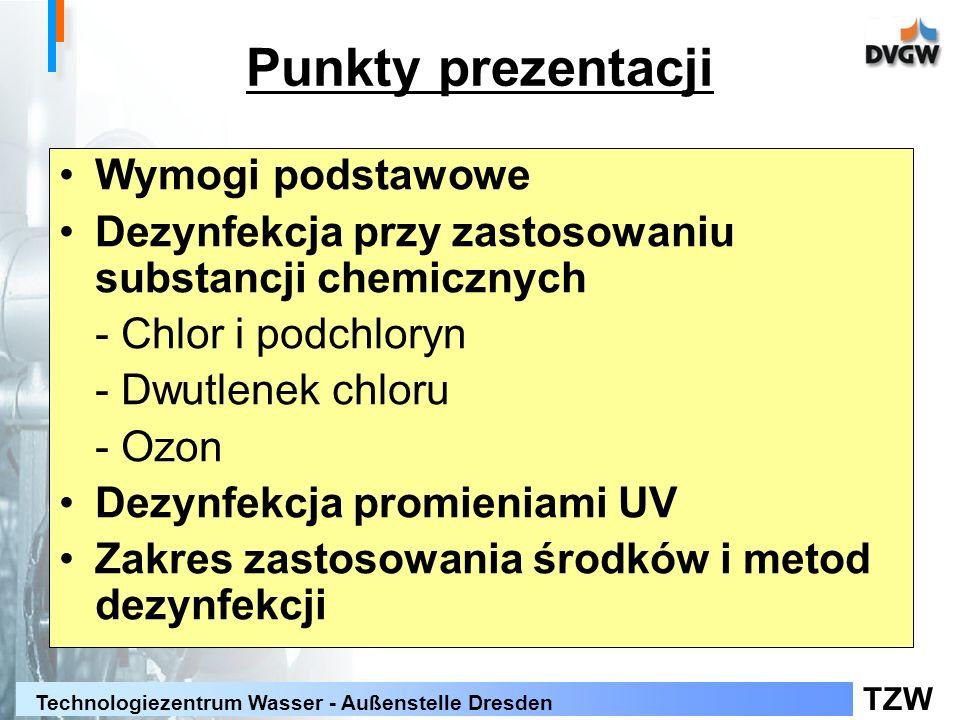 Punkty prezentacji Wymogi podstawowe