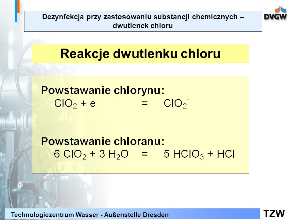 Reakcje dwutlenku chloru