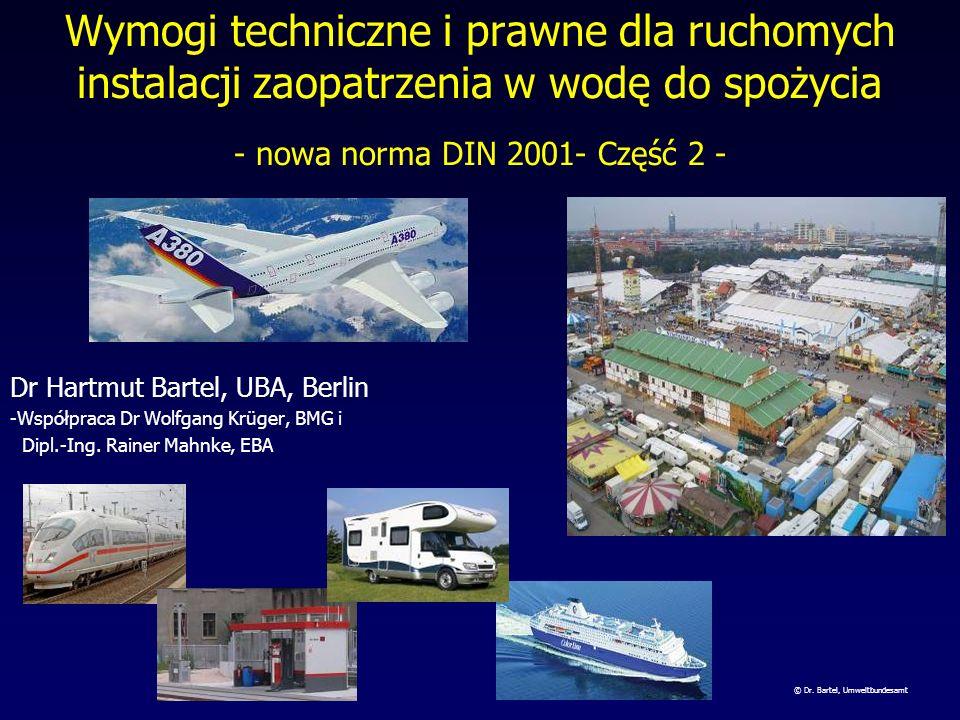 Wymogi techniczne i prawne dla ruchomych instalacji zaopatrzenia w wodę do spożycia - nowa norma DIN 2001- Część 2 -
