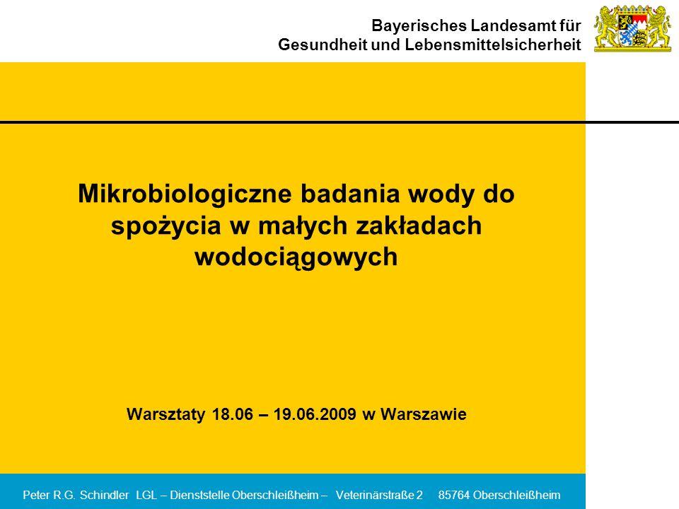 Mikrobiologiczne badania wody do spożycia w małych zakładach wodociągowych Warsztaty 18.06 – 19.06.2009 w Warszawie