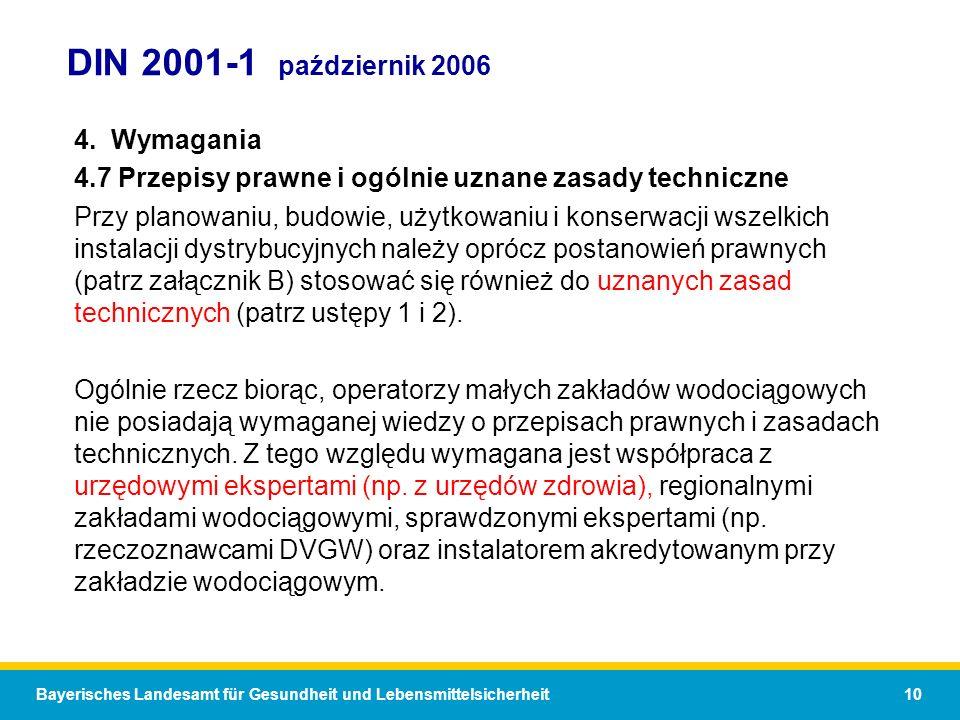 DIN 2001-1 październik 2006 4. Wymagania