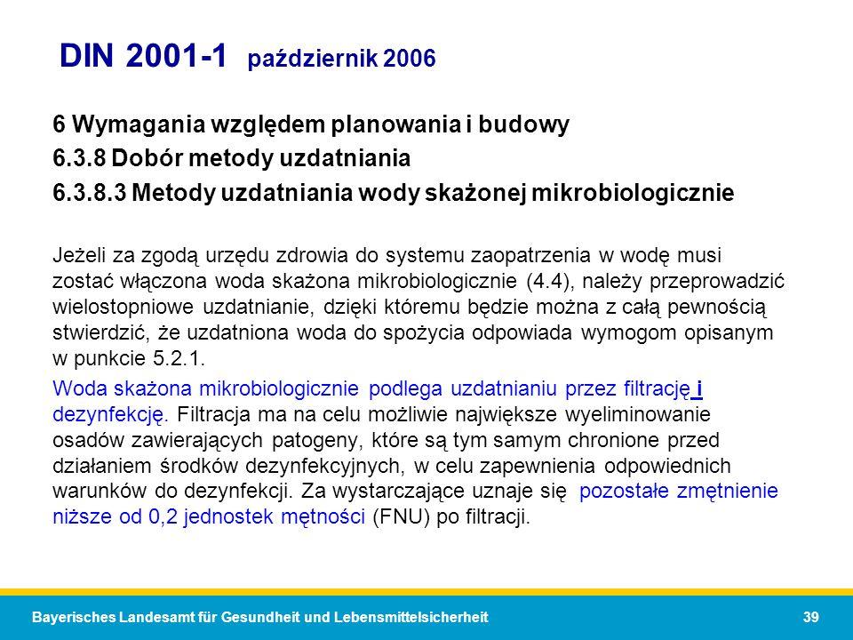DIN 2001-1 październik 2006 6 Wymagania względem planowania i budowy
