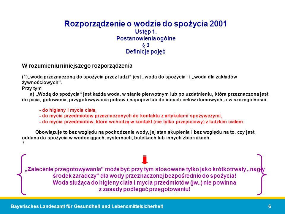 Rozporządzenie o wodzie do spożycia 2001