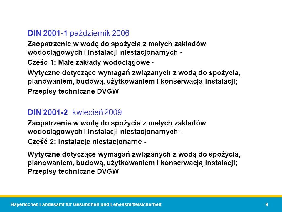 DIN 2001-1 październik 2006 DIN 2001-2 kwiecień 2009