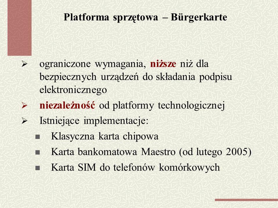 Platforma sprzętowa – Bürgerkarte
