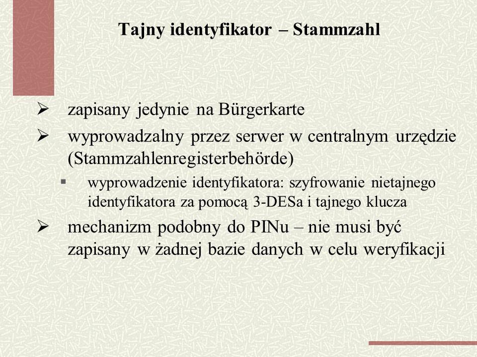 Tajny identyfikator – Stammzahl
