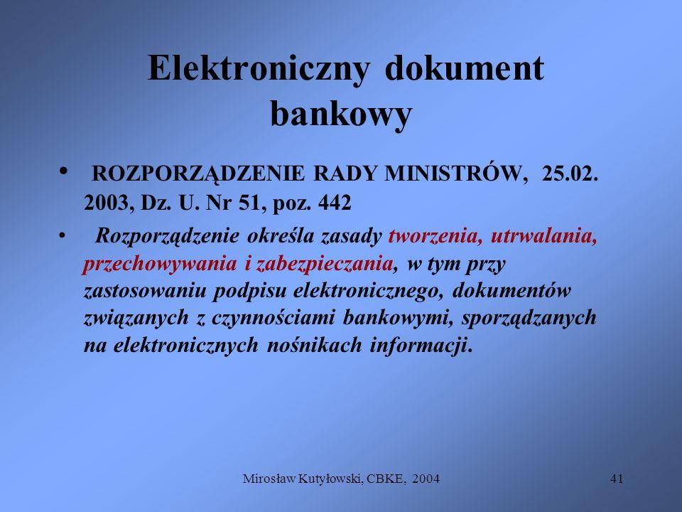 Elektroniczny dokument bankowy