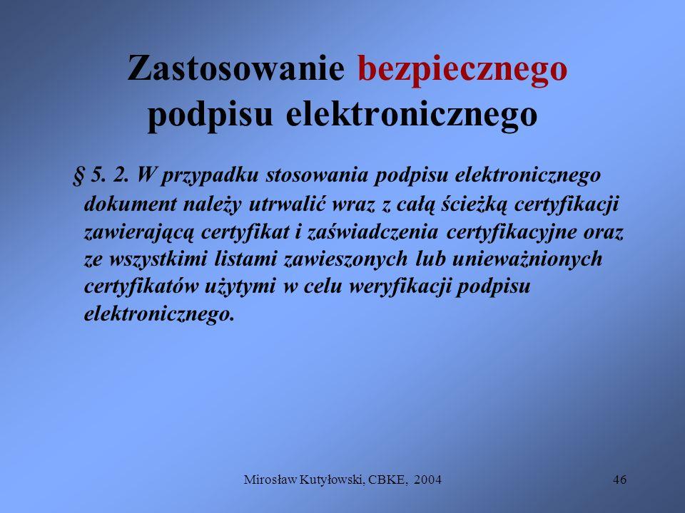 Zastosowanie bezpiecznego podpisu elektronicznego