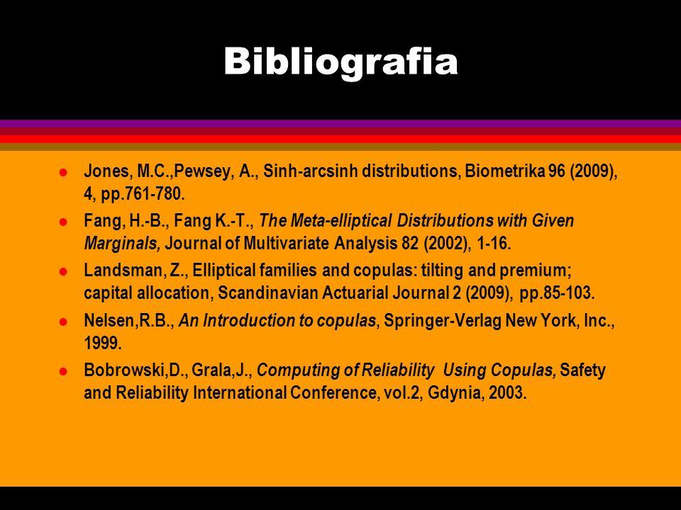 BibliografiaJones, M.C.,Pewsey, A., Sinh-arcsinh distributions, Biometrika 96 (2009), 4, pp.761-780.