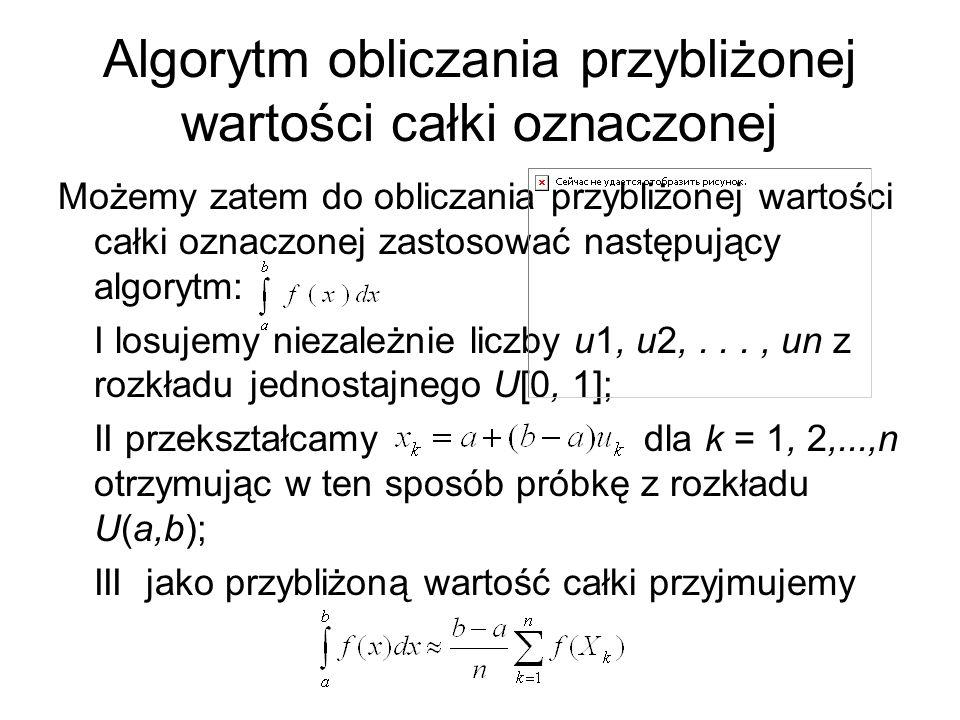 Algorytm obliczania przybliżonej wartości całki oznaczonej