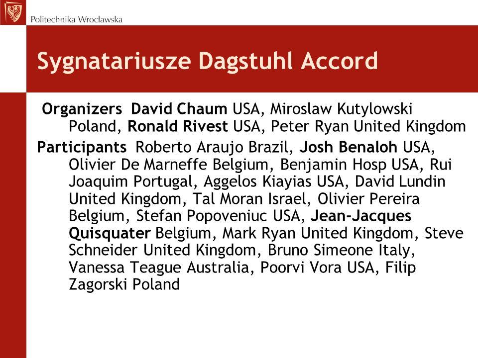 Sygnatariusze Dagstuhl Accord