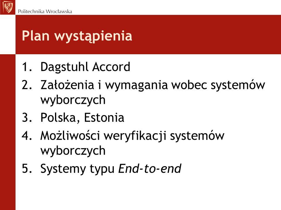 Plan wystąpienia Dagstuhl Accord