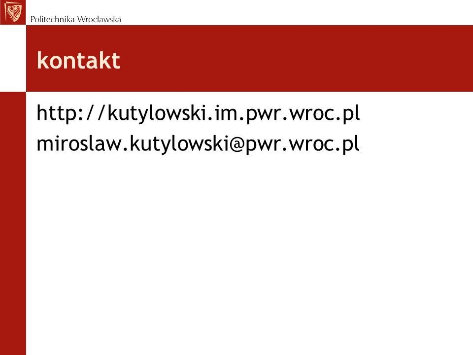 kontakt http://kutylowski.im.pwr.wroc.pl
