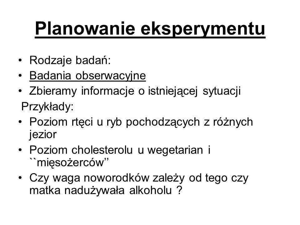 Planowanie eksperymentu