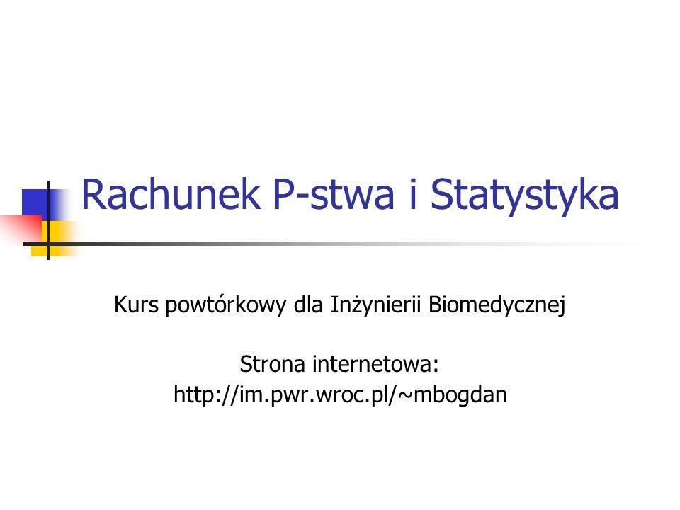 Rachunek P-stwa i Statystyka