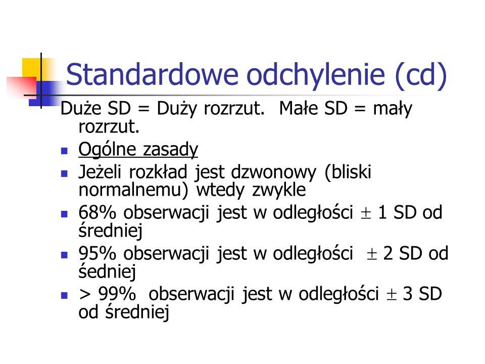 Standardowe odchylenie (cd)