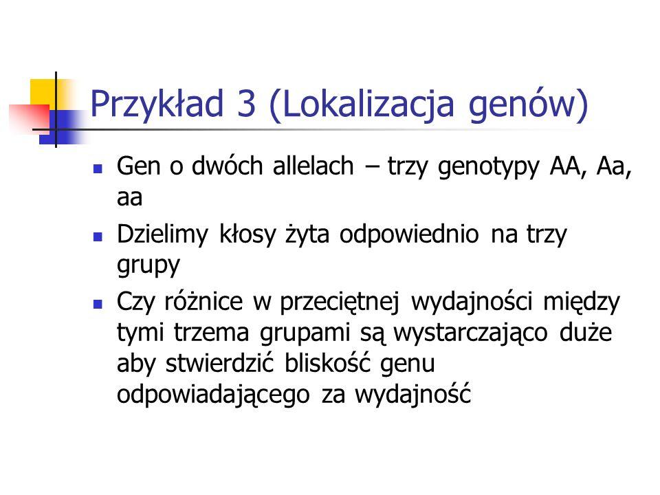 Przykład 3 (Lokalizacja genów)