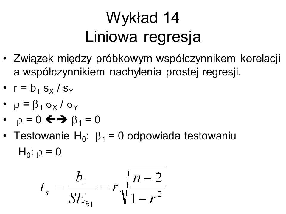 Wykład 14 Liniowa regresja