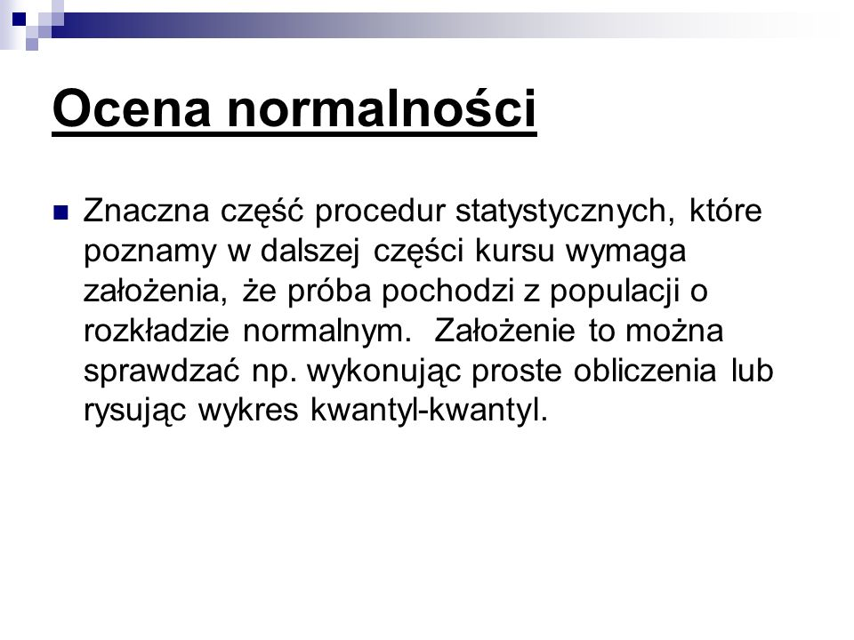 Ocena normalności