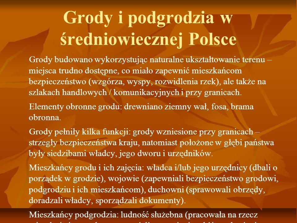 Grody i podgrodzia w średniowiecznej Polsce