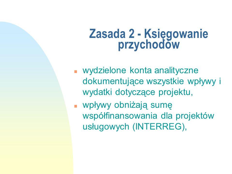 Zasada 2 - Księgowanie przychodów