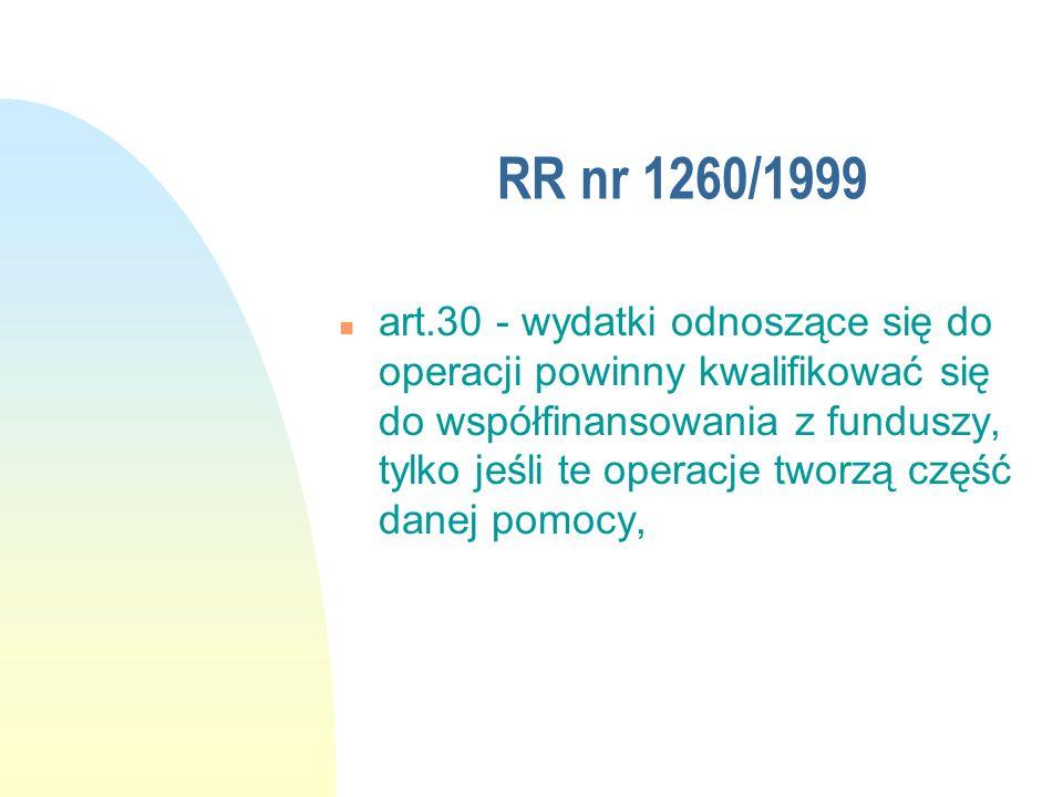 RR nr 1260/1999