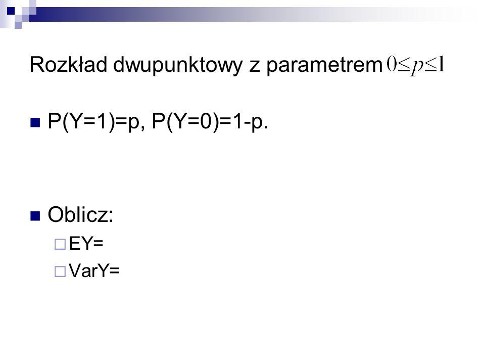 Rozkład dwupunktowy z parametrem