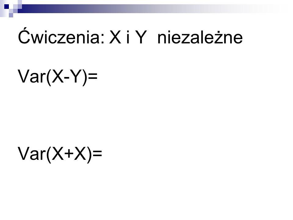 Ćwiczenia: X i Y niezależne
