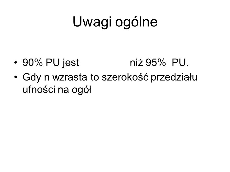 Uwagi ogólne 90% PU jest niż 95% PU.