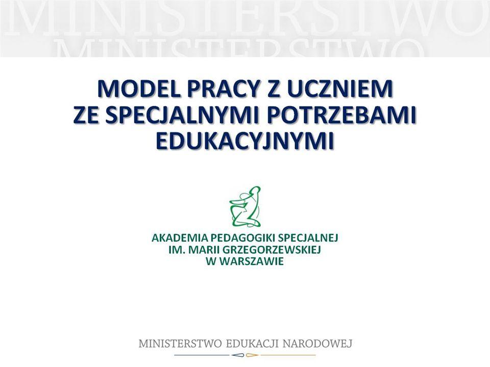 Trochimiak B. (2010). Model pracy z uczniem ze specjalnymi potrzebami edukacyjnymi. W: Podniesienie efektywności kształcenia uczniów ze specjalnymi potrzebami edukacyjnymi. Materiały szkoleniowe. Część II, s. 5 – 27, slajdy od 2 do 43.
