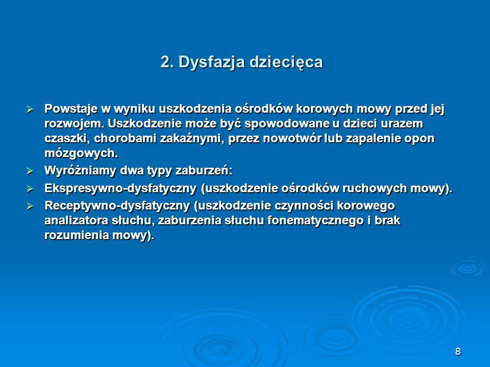 2. Dysfazja dziecięca