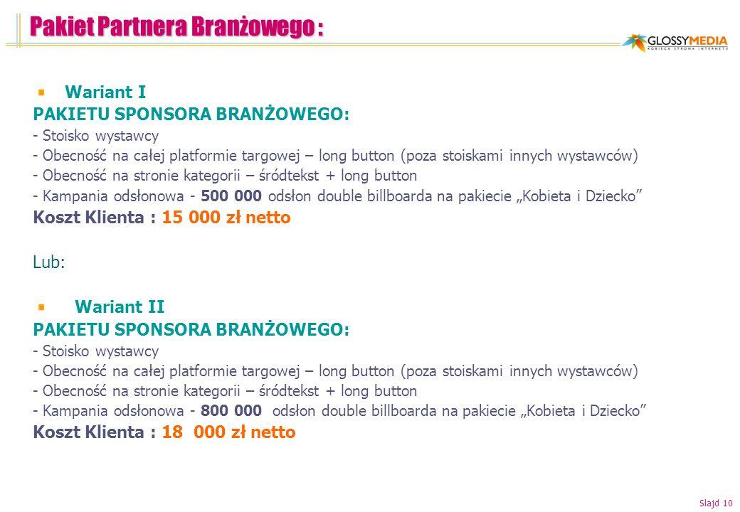 Pakiet Partnera Branżowego :