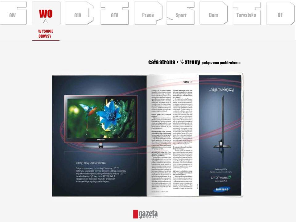 WO cała strona + ½ strony połączone poddrukiem GW CJG GTV Praca Sport